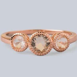 Francesca's Sterling Silver/Rose Gold Ring